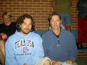 Angel Ruiz junto a Patrick Roy en Canadá